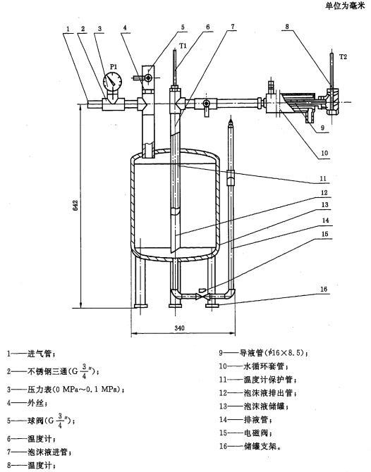 图1 泡沫液比流动性测定装置示意图