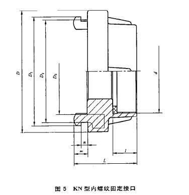 图5 KN型内螺纹固定接口