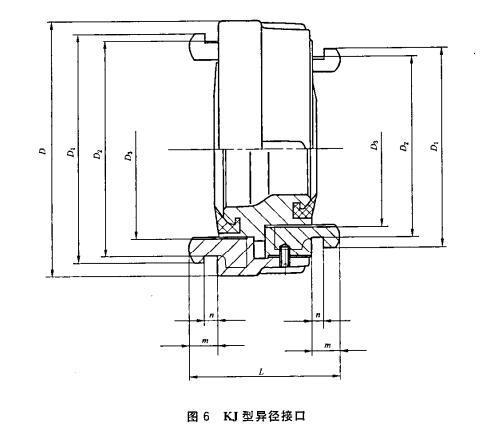 图6 KJ型异径接口