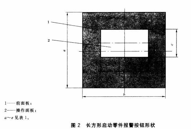 图2 长方形启动零件报警按钮形状
