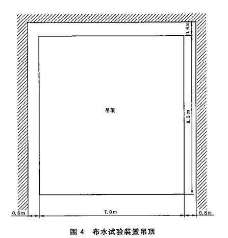 图4 布水试验装置吊顶