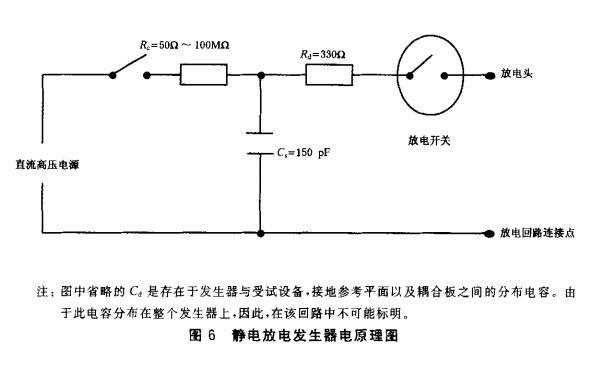 图6 静电放电发生器原理图