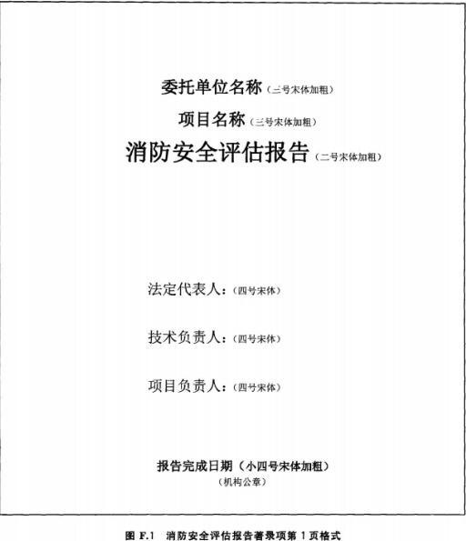 消防安全评估报告著录项第1页格式