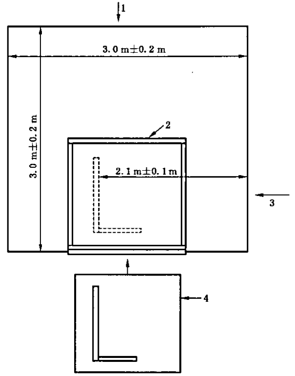 SBI燃烧室设计的俯视图(示意图)