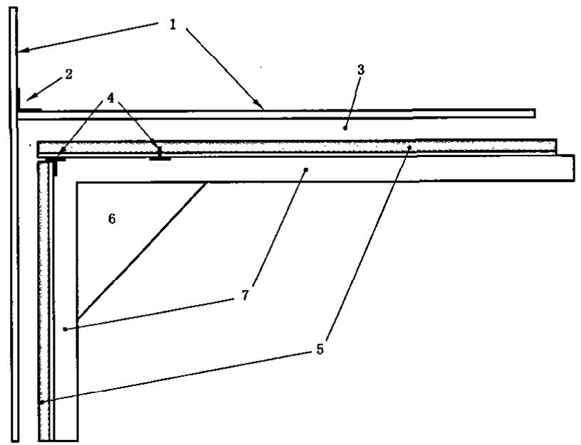 试样和背板的安装图例(示意图)