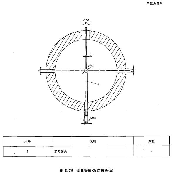 测量管道-双向探头(a)