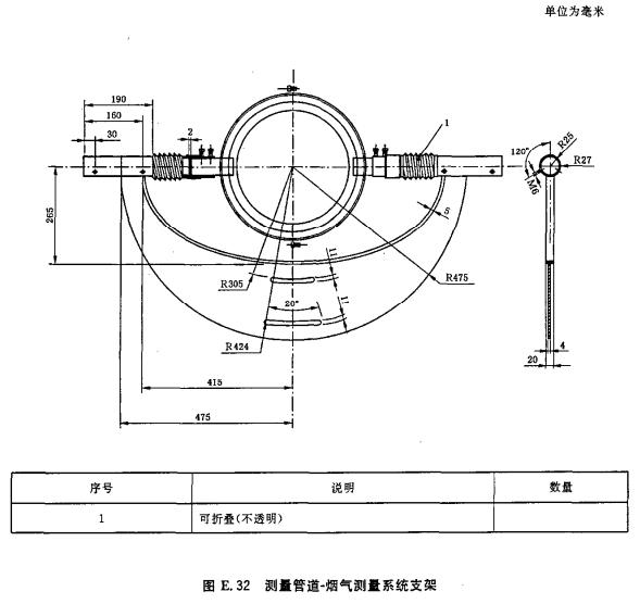 测量管道-烟气测量系统支架