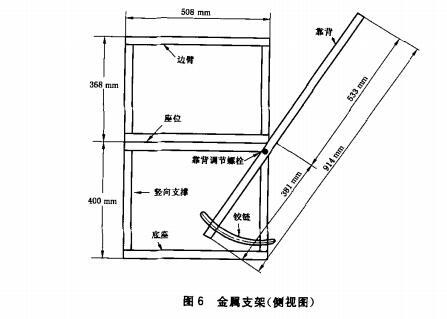 金属支架(侧视图)