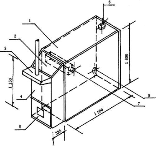 图2 烟箱示意图