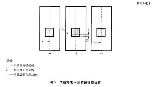 图5试验方法A试样拼接缝位置