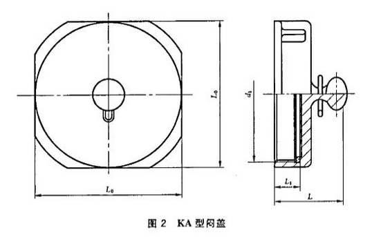 图2 KA型闷盖