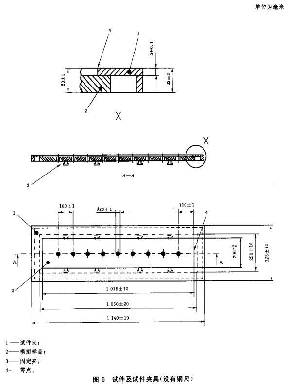 图6 试件及试件夹具(没有钢尺)