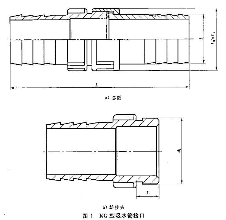 图1 KG型吸水管接口