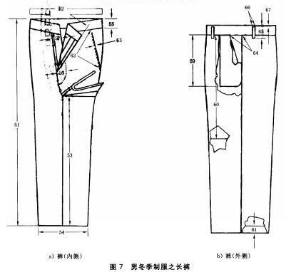 男冬季制服之长裤