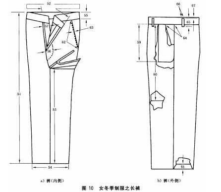 女冬季制服之长裤