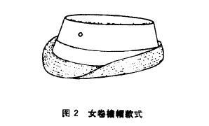 女卷檐帽款式