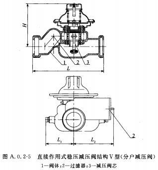 直接作用式稳压减压阀结构V型(分户减压阀)