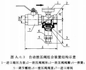 自动泄压阀组合装置结构示意