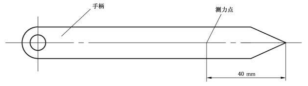 图4 启闭力测力位置
