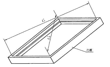 门框内裁口对角线长度测量位置示意图